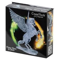 3D Crystal Jigsaw Puzzle Clear Flying Horse