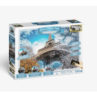 Scratch off Seasons Eiffel Tower Jigsaw Puzzle