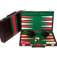 Backgammon Black Vinyl Case 15""