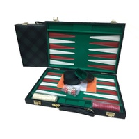 Backgammon Green Checkered Vinyl 18""