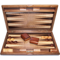 Dal Rossi Italy Backgammon Walnut Burl 15""