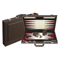 Dal Rossi Italy Backgammon Burgundy PU Leather 18""