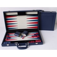 "Dal Rossi Italy Blue Backgammon 18"" PU Leather"