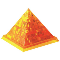 3D Crystal Puzzle - Golden Pyramid