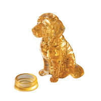 3D Crystal Puzzle - Golden Retriever