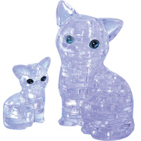 3D Crystal Puzzle - Clear Cat