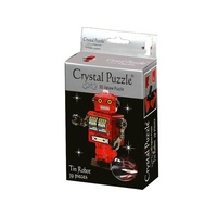 3D Crystal Puzzle - Red Tin Robot