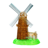 3D Crystal Puzzle - Large Windmill