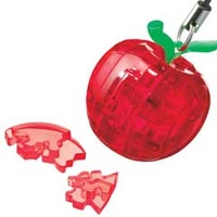 3D Crystal Puzzle - Mini Red Apple