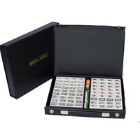 Mahjong Black Vinyl Case 32cm With Sticks