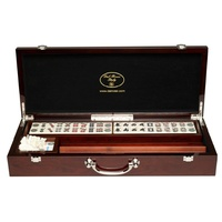Mahjong, deluxe wooden case with sticks & racks (52cm)