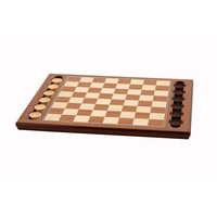 Dal Rossi Italy Wooden Checkers Set, board and pieces