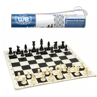 Wood Expressions - Roll-up Travel Chess Set in Carry Tube with Shoulder Strap