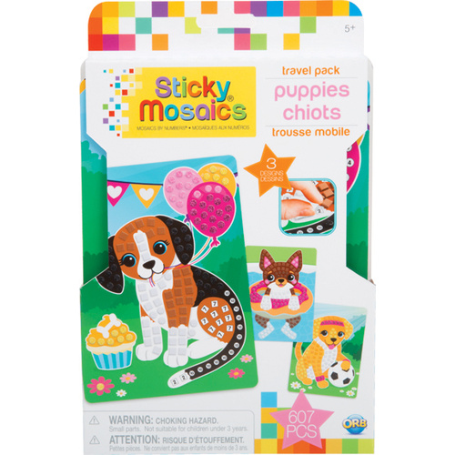 Sticky Mosaics Travel Pack, Puppies