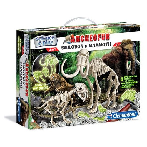 Archeofun Smilodon and Mammoth
