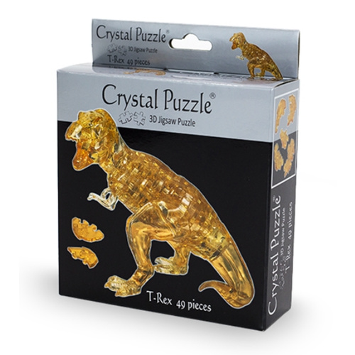 3D Crystal Puzzle - Brown T-Rex