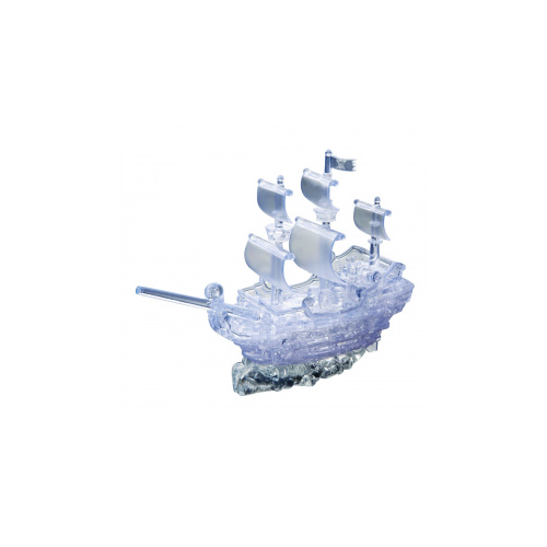 3D Crystal Puzzle - Clear Pirate Ship